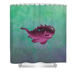 Bigfish Shower Curtain by Andy Catling