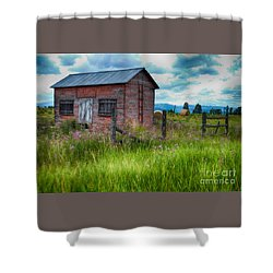 Bigfork Farm Shed Shower Curtain