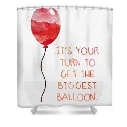 Biggest Balloon- Card Shower Curtain