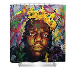 Biggy Smalls II Shower Curtain