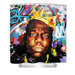 Biggy Smalls IIi Shower Curtain