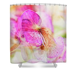 Shower Curtain featuring the photograph Bigleaf Hydrangea Abstract by Nick Biemans