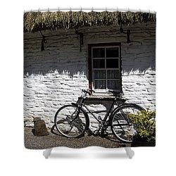 Bike At The Window County Clare Ireland Shower Curtain by Teresa Mucha
