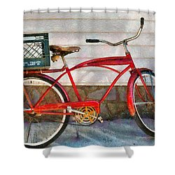 Bike - Delivery Bike Shower Curtain by Mike Savad