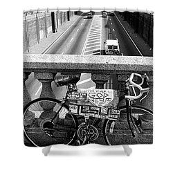 Bike Grand Concourse Bronx Shower Curtain