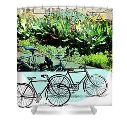 Bike Poster Shower Curtain