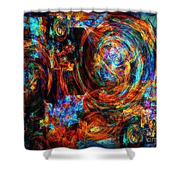 Bike Racers Shower Curtain