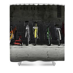 Bike Rack Shower Curtain