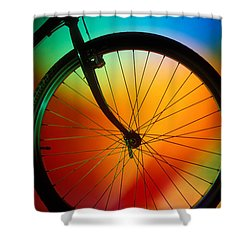 Bike Silhouette Shower Curtain by Garry Gay