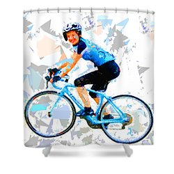 Shower Curtain featuring the painting Biker 1 by Movie Poster Prints