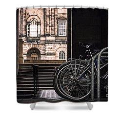 Bikes And University Shower Curtain