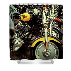 Shower Curtain featuring the photograph Bikes In A Row by Samuel M Purvis III