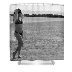 Bikini Girl Shower Curtain