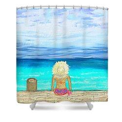 Bikini On The Pier Shower Curtain