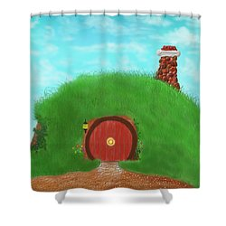 Bilbo's Home In The  Shire Shower Curtain