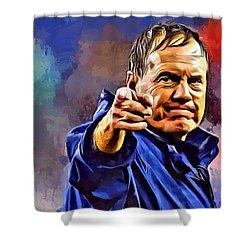 Bill Belichick Shower Curtain
