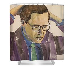 Bill Evans Shower Curtain by Anita Burgermeister