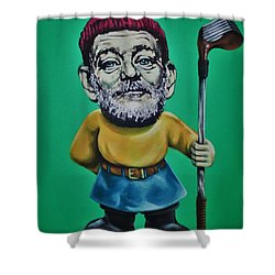 Bill Murray Golf Gnome Shower Curtain