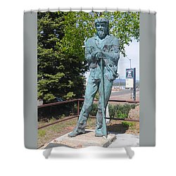 Bill Williams Statue Shower Curtain