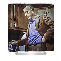 Bill Wilson Shower Curtain by Rick Mosher