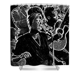 Billie Holiday Shower Curtain by Charles Shoup