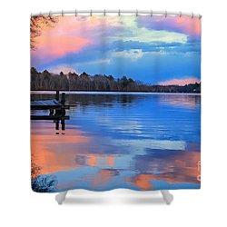 Billington Sea Sunset Shower Curtain by Amazing Jules