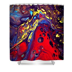 Billion Stars Hotel  - Abstract Colorful Mixed Media Painting Shower Curtain