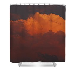 Billowing Clouds Sunset Shower Curtain