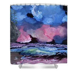 Billowy Clouds Afloat Shower Curtain