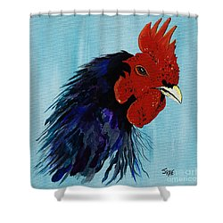 Shower Curtain featuring the painting Billy Boy The Rooster by Janice Rae Pariza
