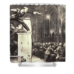 Awesome Billy Sunday Shower Curtain