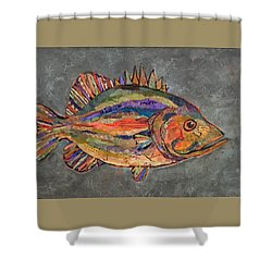 Billy The Bass Shower Curtain