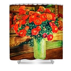 Billy's Flowers Shower Curtain