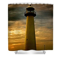 Biloxi Lighthouse - Sunrise Shower Curtain