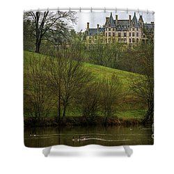 Biltmore Estate At Dusk Shower Curtain