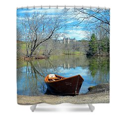 Shower Curtain featuring the photograph Biltmore Reflections by Li Newton