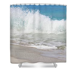Bimini Wave Sequence 1 Shower Curtain