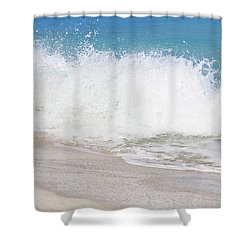 Bimini Wave Sequence 3 Shower Curtain