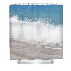 Bimini Wave Sequence 4 Shower Curtain