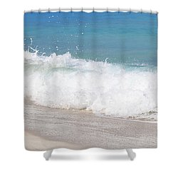 Bimini Wave Sequence 5 Shower Curtain