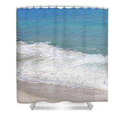 Bimini Wave Sequence 6 Shower Curtain