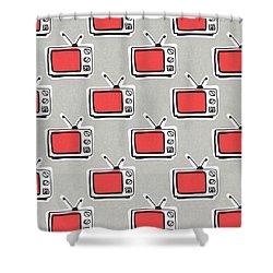 Binge Watching- Art By Linda Woods Shower Curtain
