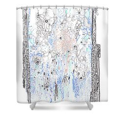 Bingham Fluid Or Paste Shower Curtain
