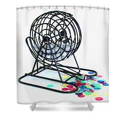 Bingo Cage Shower Curtain by Allan  Hughes