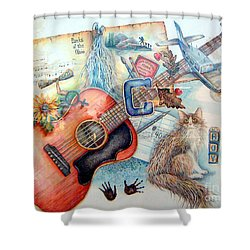 Bio Bits Shower Curtain