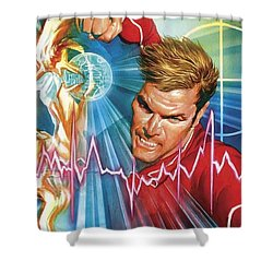 Bionic Man Shower Curtain