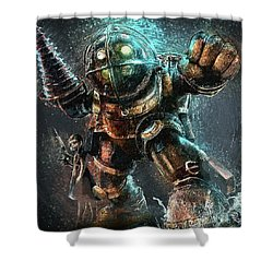 Bioshock Shower Curtain by Taylan Apukovska
