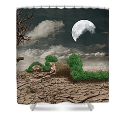Biotic Decomposition Shower Curtain