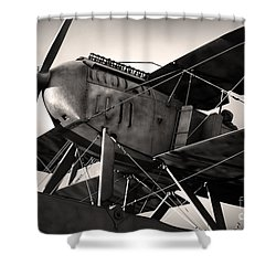 Biplane Shower Curtain by Carlos Caetano