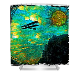 Biplane Shower Curtain by Iowan Stone-Flowers